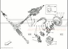 Ferrari 458 Speciale Steering Column
