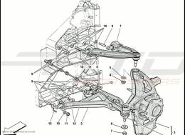 Ferrari 458 Speciale Front Suspension - Wishbones