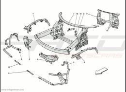 Ferrari 458 Speciale Frame - Complete Front Part Structures And Plates