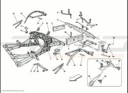 Ferrari 458 Speciale Frame - Rear Elements Structure And Plates
