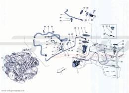 Ferrari California Turbo FUEL PUMP AND CONNECTOR PIPES