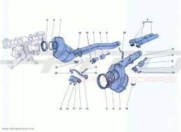 Ferrari California Turbo PRE-CATALYTIC CONVERTERS AND CATALYTIC CONVERTERS