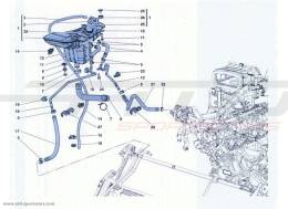 Ferrari California Turbo COOLING: HEADER TANK AND PIPES