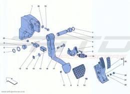 Ferrari California Turbo COMPLETE PEDAL BOARD ASSEMBLY
