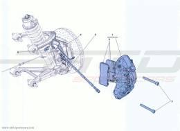 Ferrari California Turbo FRONT BRAKE CALLIPERS