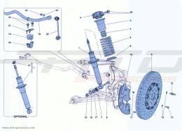 Ferrari California Turbo FRONT SUSPENSION - SHOCK ABSORBER AND BRAKE DISC
