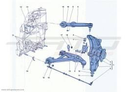 Ferrari California Turbo FRONT SUSPENSION - ARMS