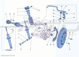 Ferrari California Turbo REAR SUSPENSION - SHOCK ABSORBER AND BRAKE DISC