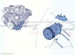 Ferrari California Turbo AC SYSTEM COMPRESSOR