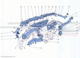 Ferrari California Turbo DASHBOARD AIR DUCTS