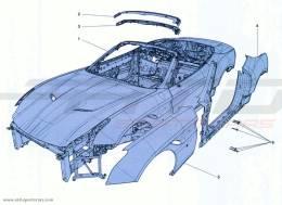 Ferrari California Turbo BODYSHELL - EXTERNAL TRIM
