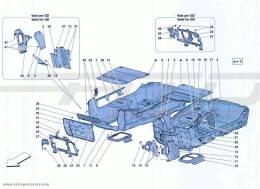 Ferrari California Turbo PASSENGER COMPARTMENT MATS