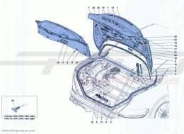 Ferrari California Turbo REAR LID AND OPENING MECHANISM