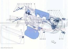 Ferrari California Turbo DOORS - OPENING MECHANISMS AND HINGES