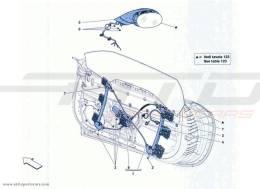 Ferrari California Turbo DOORS - POWER WINDOW AND REAR VIEW MIRROR