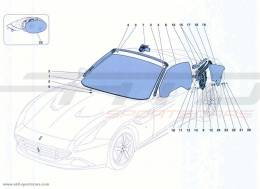 Ferrari California Turbo SCREENS, WINDOWS AND SEALS