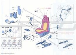 Ferrari California Turbo FRONT SEAT - SEAT BELTS
