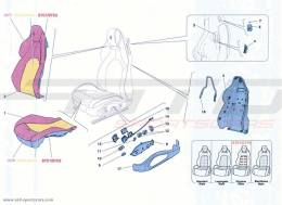Ferrari California Turbo FRONT SEAT - TRIM AND ACCESSORIES