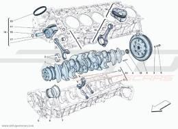 Ferrari F12 Berlinetta CRANKSHAFT - PISTONS AND CONNECTING RODS