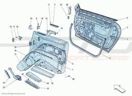 Ferrari F12 Berlinetta DOORS - FRAMEWORK AND COATINGS