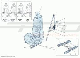 Ferrari F12 Berlinetta FRONT SEAT - SAFETY BELTS AND HANDLING GUIDE