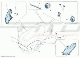 Ferrari F12 Berlinetta LIGHTS FRONT AND REAR
