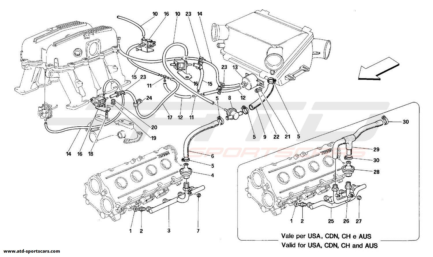 Ferrari 348 AIR INJECTION DEVICE