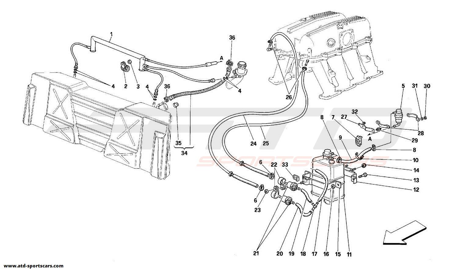 Ferrari 348 ANTIEVAPORATION DEVICE