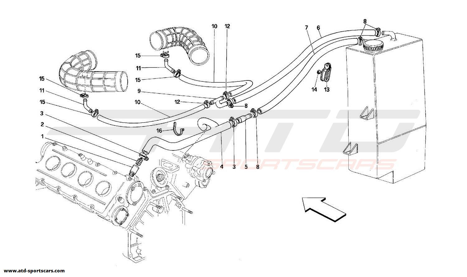 Ferrari 348 BLOW-BY SYSTEM