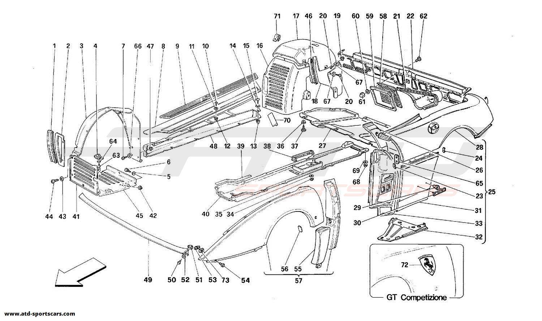 Ferrari 348 BODY - OUTER TRIMS