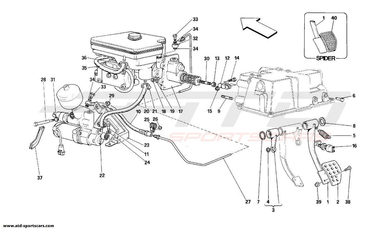 Ferrari 348 BRAKE HIDRAULIC