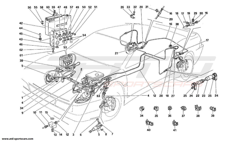 Ferrari 348 BRAKE SYSTEM
