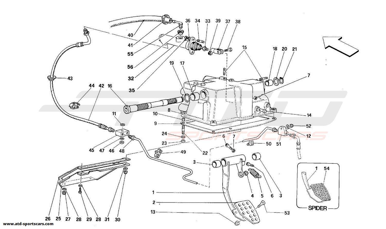 Ferrari 348 CLUTCH AND CONTROLS