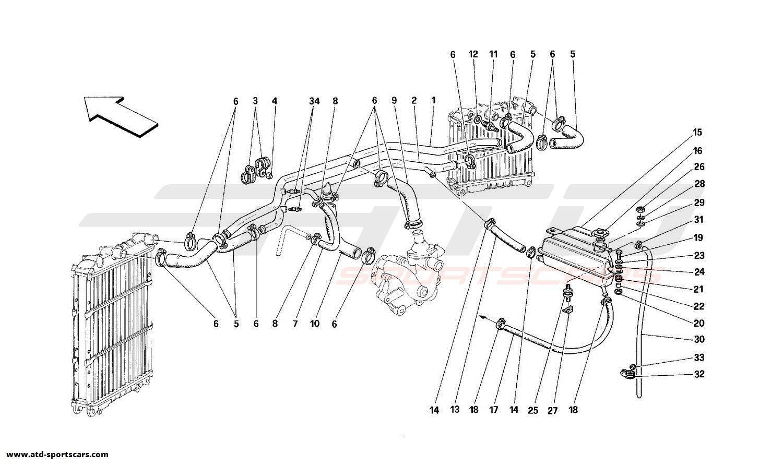 Ferrari 348 COOLING SYSTEM