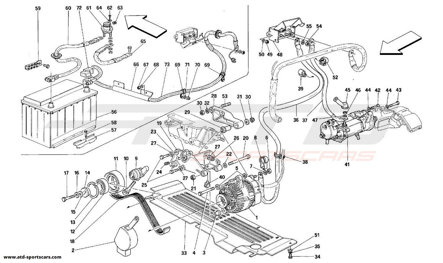 Ferrari 348 CURRENT GENERATOR - STARTING MOTOR