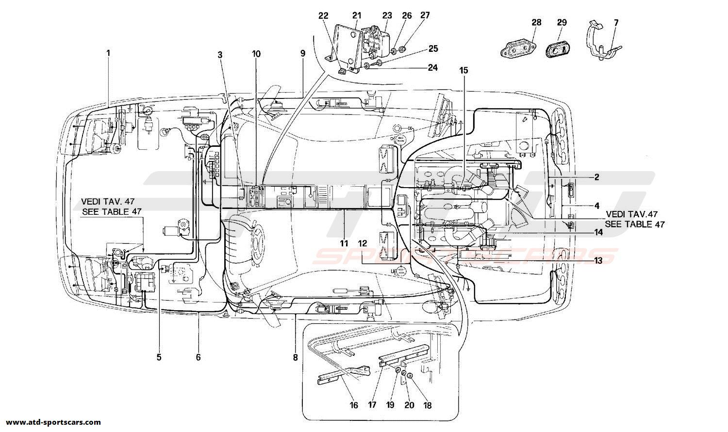 Ferrari 348 ELECTRICAL SYSTEM -Not for USA and CDN-