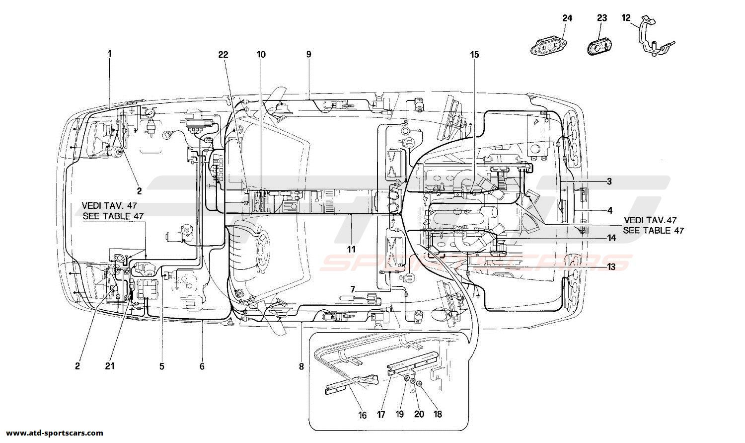 Ferrari 348 ELECTRICAL SYSTEM -Valid for USA and CDN-