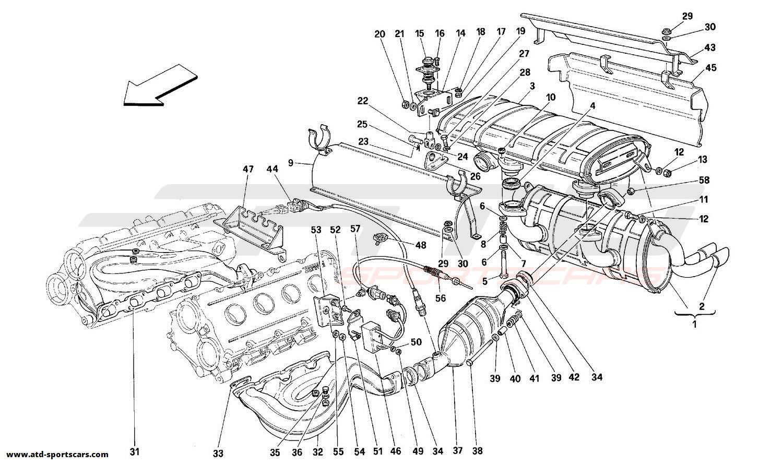 Ferrari 348 EXHAUST SYSTEM