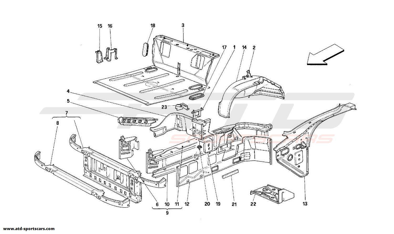 Ferrari 348 FRONT PART STRUCTURES
