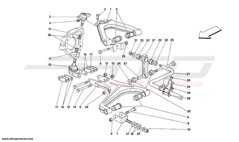 Ferrari 348 FRONT SUSPENSION - WISHBONES