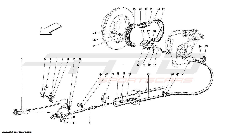 Ferrari 348 HAND-BRAKE CONTROL