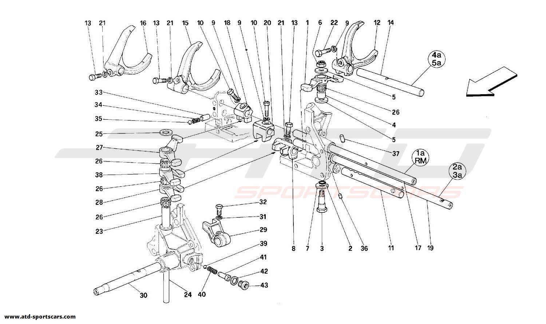 Ferrari 348 INSIDE GEARBOX CONTROLS