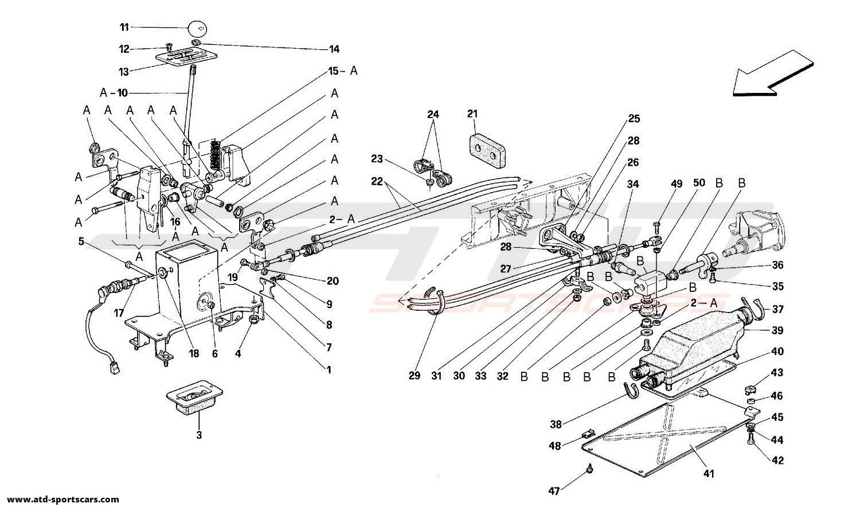 Ferrari 348 OUTSIDE GEARBOX CONTROLS