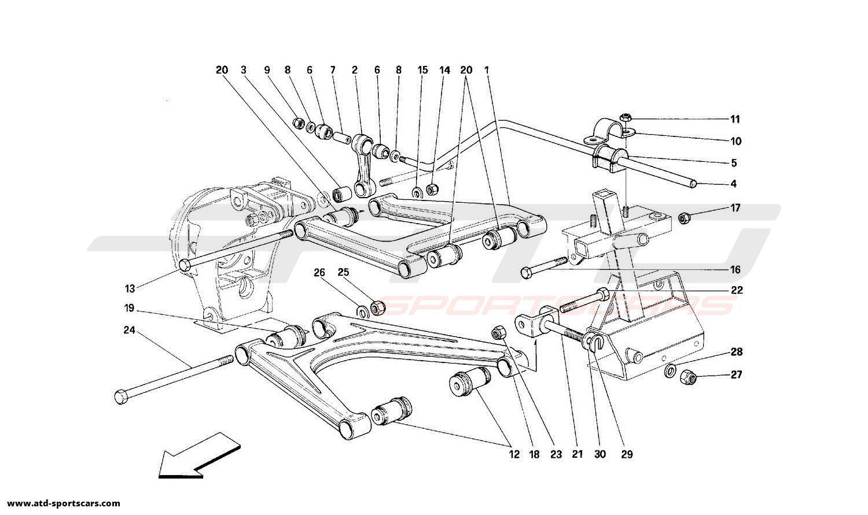 Ferrari 348 REAR SUSPENSION - WISHBONES