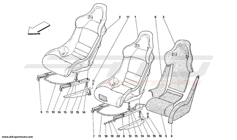 Ferrari 348 SEATS