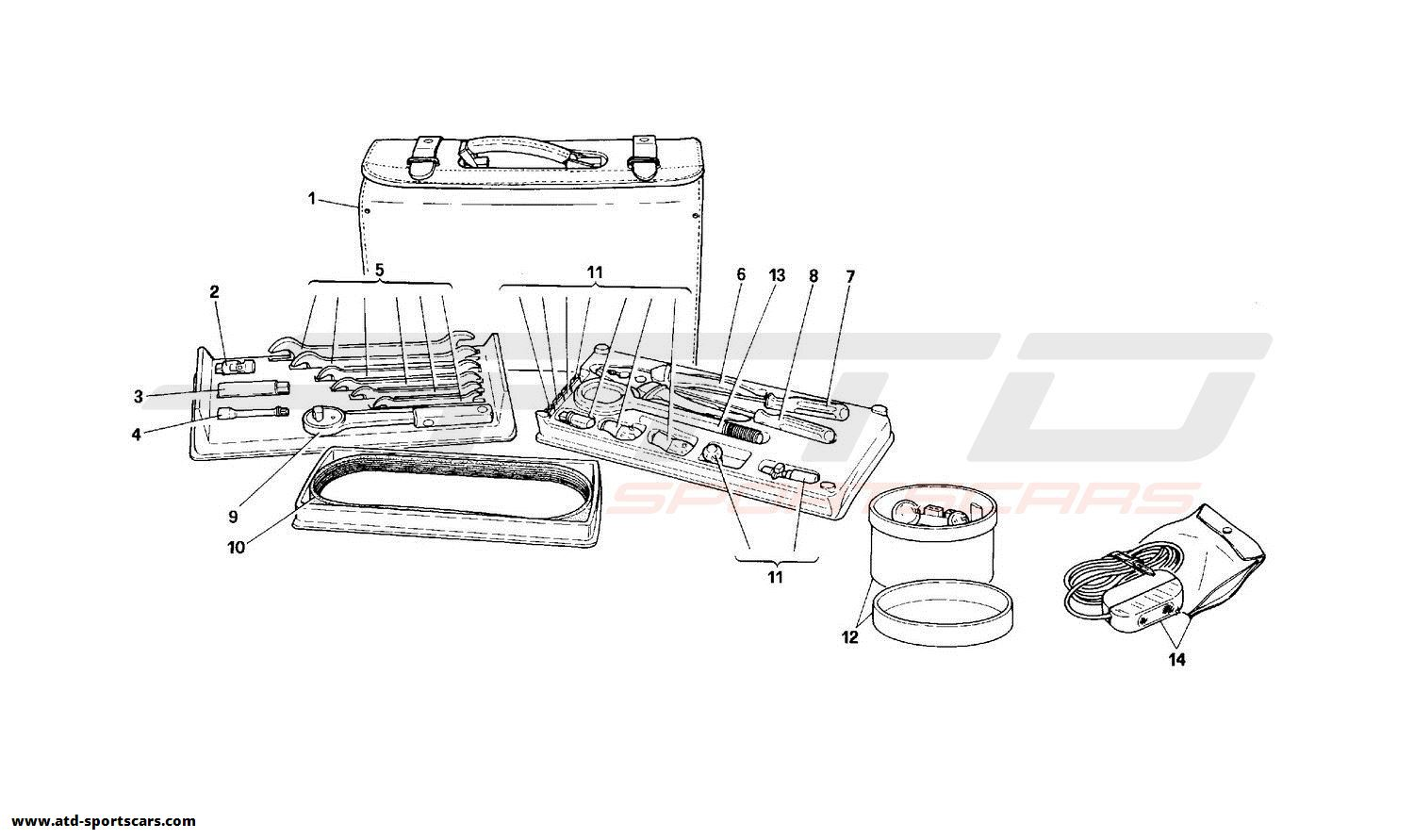 Ferrari 348 TOOLS EQUIPMENT