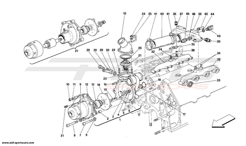 Ferrari 348 WATER PUMP