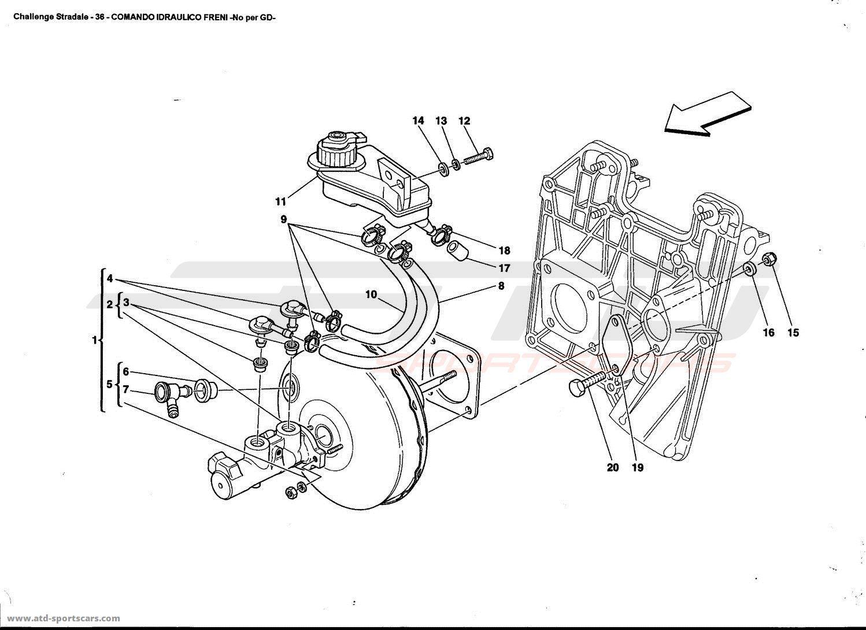 Ferrari 360 Challenge stradale BRAKES HYDRAULIC CONTROL