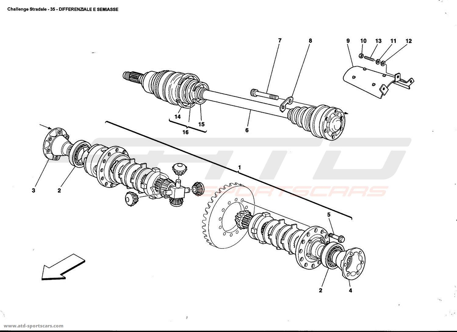 Ferrari 360 Challenge stradale DIFFERENTIAL AND AXLE SHAFT
