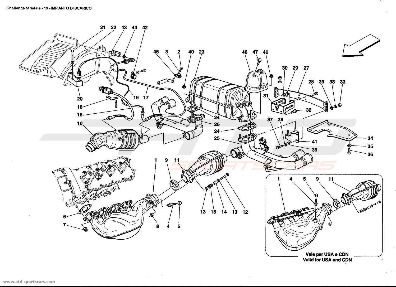 Ferrari 360 Challenge stradale EXHAUST SYSTEM